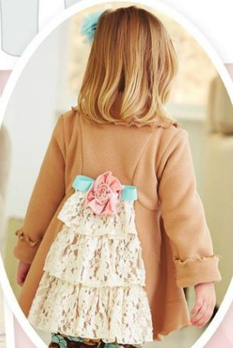8acd79c4 Girls Lace Ruffled Back Coat 12 Months to 10 Years Now in Stock ...