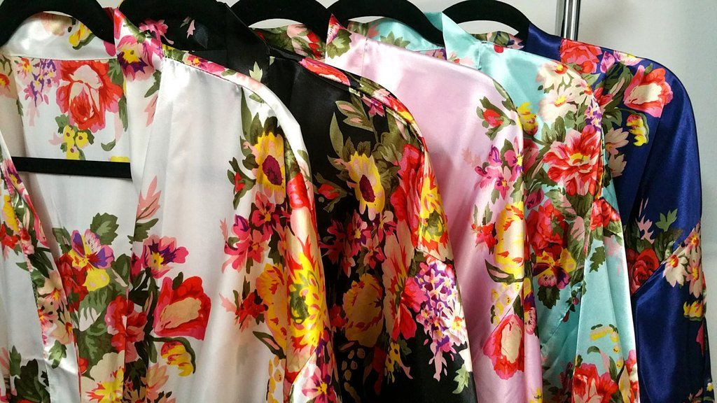 USE CODE DEC10 for 10% OFF! Floral Bridesmaid Robes Kimono