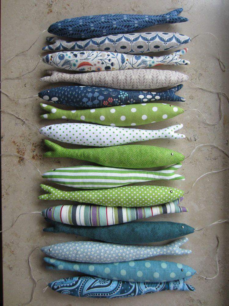 xxl sardinen fische maritim stoff meer urlaub mediterran tilda bad maritimes aus stoff. Black Bedroom Furniture Sets. Home Design Ideas