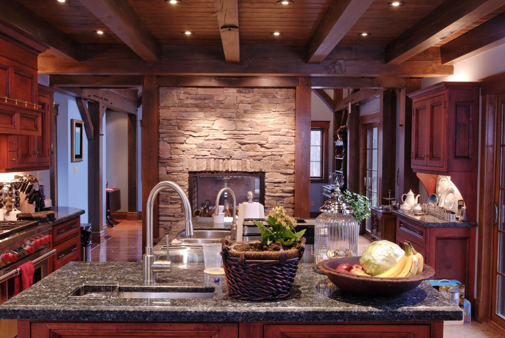52 Dark Kitchens With Dark Wood Or Black Kitchen Cabinets Cherry