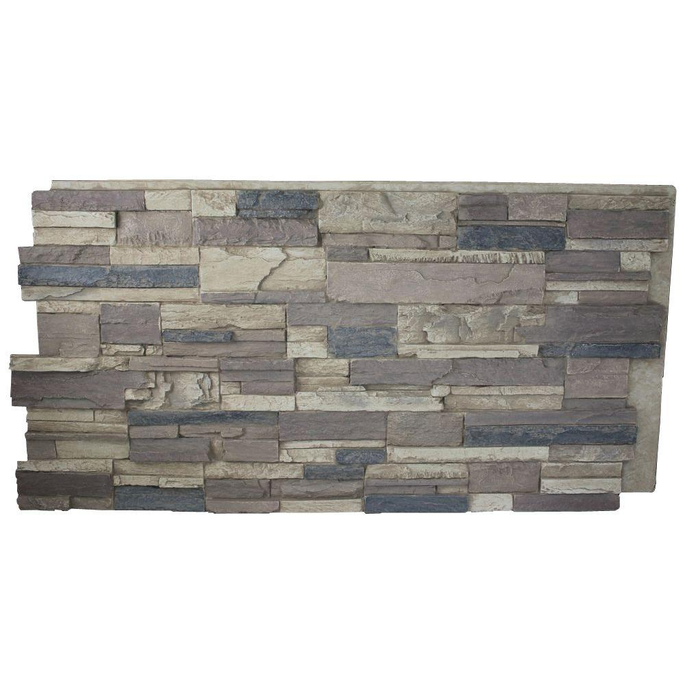 Superior Building Supplies Rustic Lodge 24 In X 48 In X 1 1 4 In Faux Tennessee Stack Stone Panel Hd Ke Stacked Stone Panels Faux Stone Panels Stacked Stone