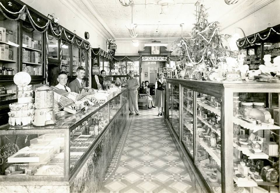 The Chapa drugstore in San Antonio, 1948. The details are