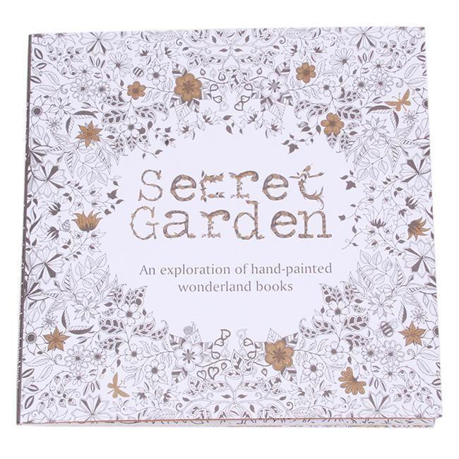 Kid Adult English Secret Garden Inky Treasure Hunt Coloring Painting Book Z
