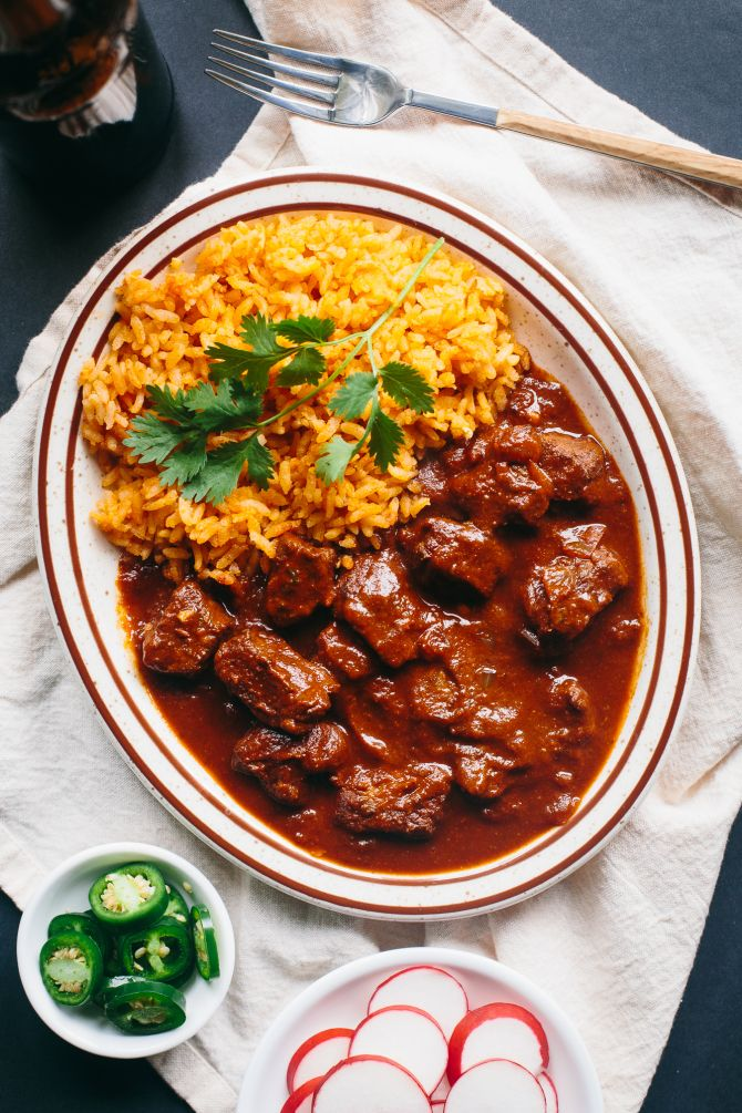 Chile Colorado The Domestic Man Mexican Food Recipes