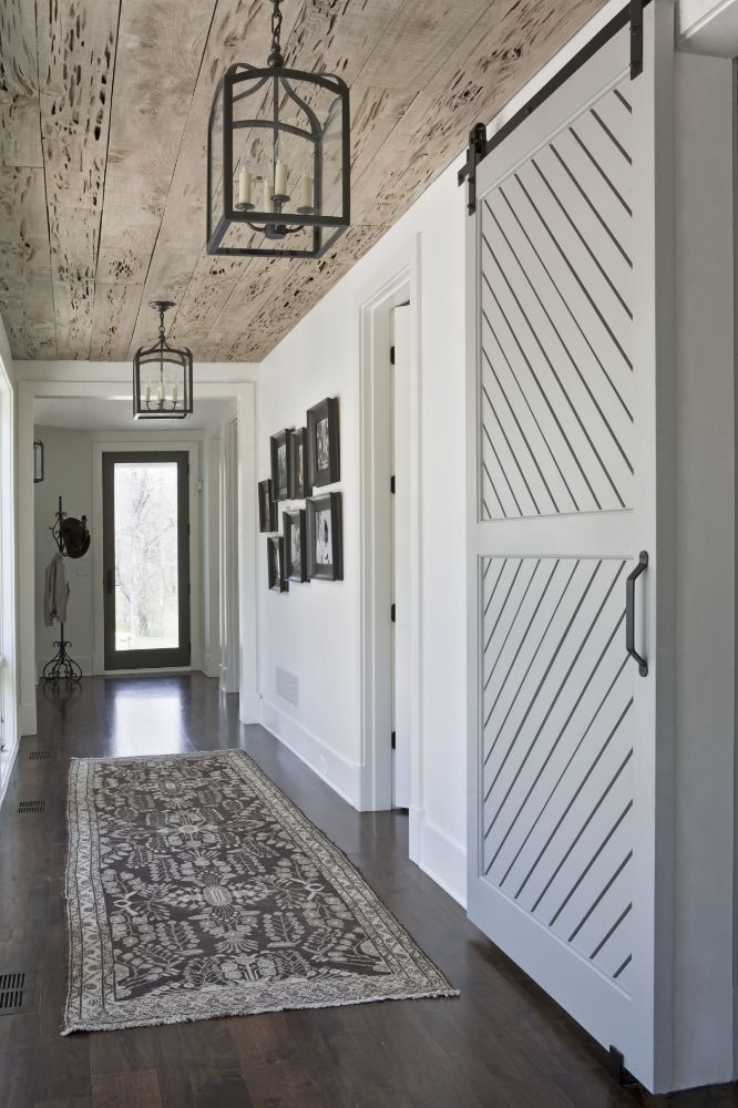 Pickled wood Basement ceiling or wall treatment | Interior ...