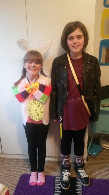 White rabbit and catniss for world book day