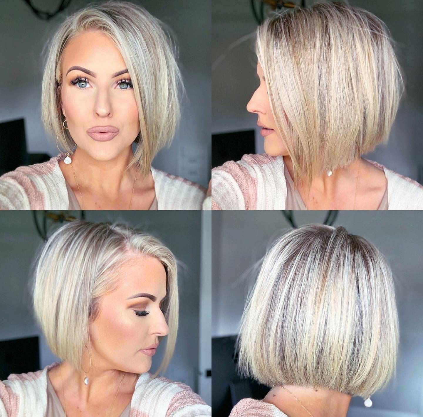 Saturn Hoops White In 2020 Thick Hair Styles Short Bob Hairstyles Bob Hairstyles