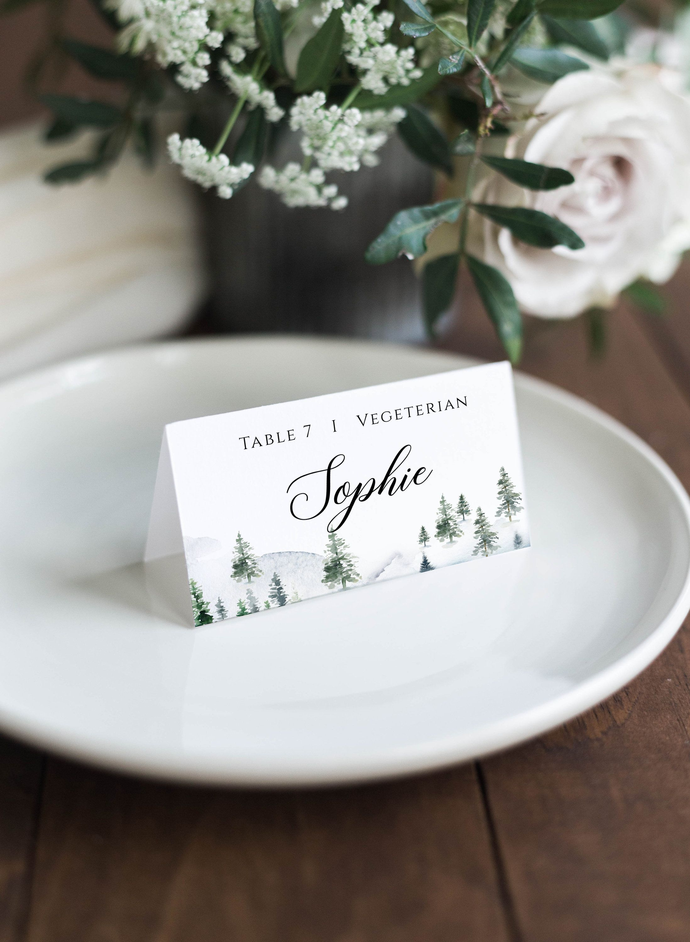 Christmas Place Cards Template Christmas Place Cards Name Etsy Christmas Place Cards Wedding Name Cards Christmas Place