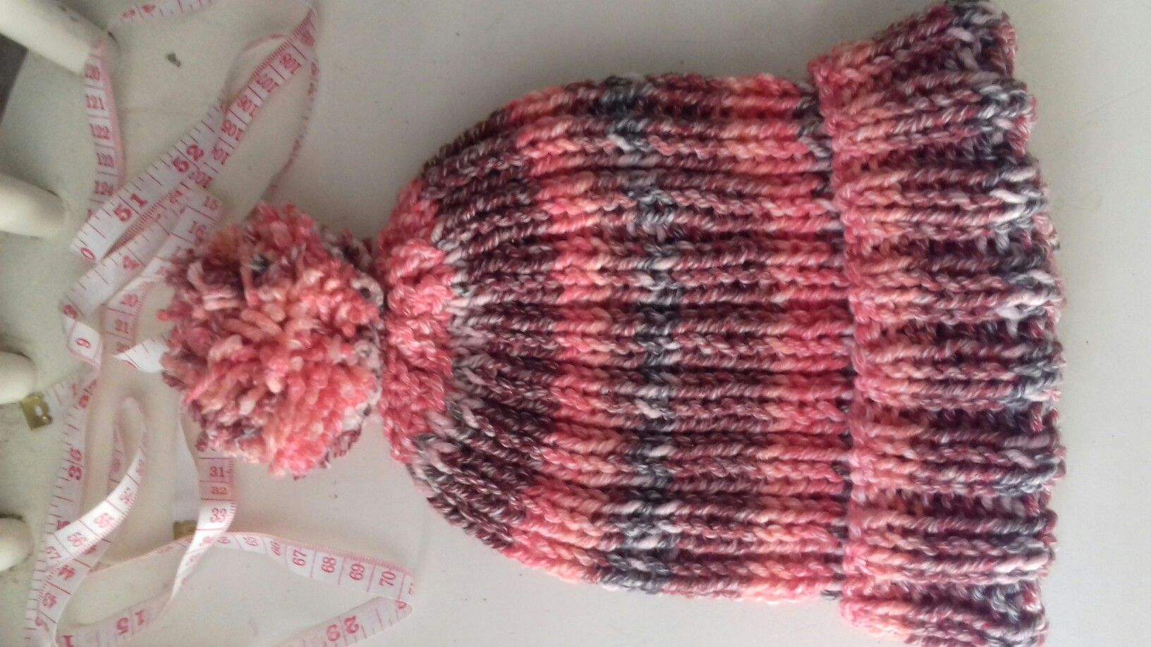 Knitted Chunky Bobble Hat. Made using 6mm needles dab02830c6a
