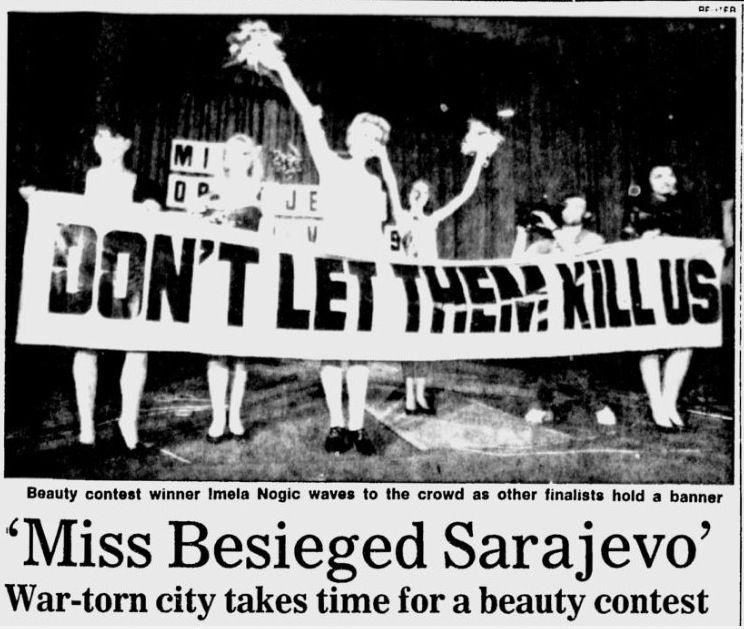 Image result for miss sarajevo 1993