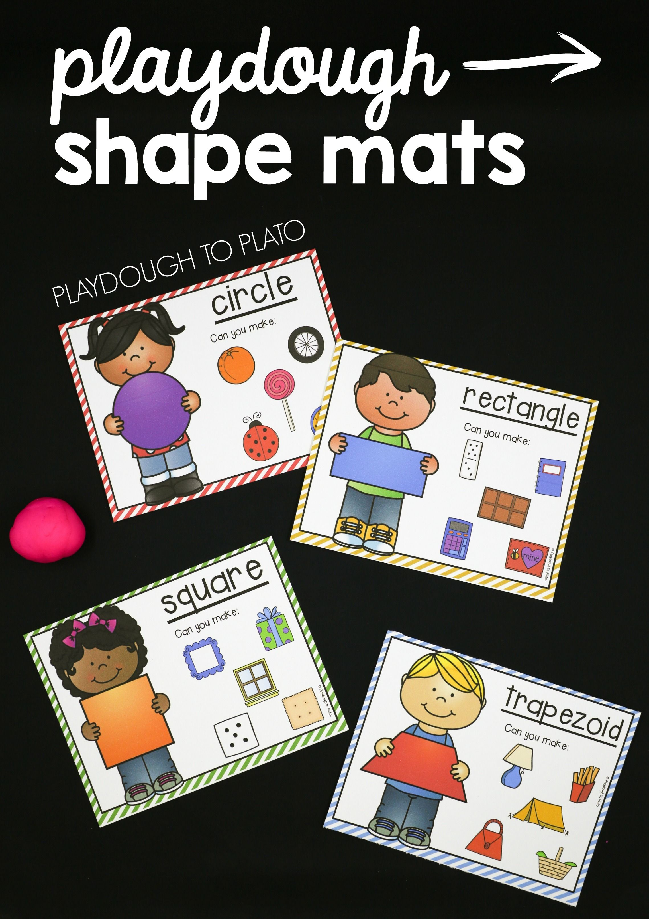 Playdough Shape Mats