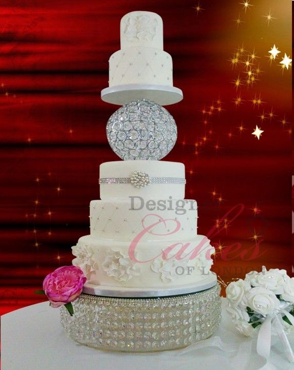 Sphere Crystal Chandelier Wedding Cake By Elaine Rhule Of - Sphere Wedding Cake