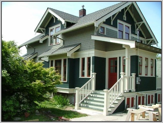 house green exterior house color combinations - Exterior Paint Colors Combinations Green