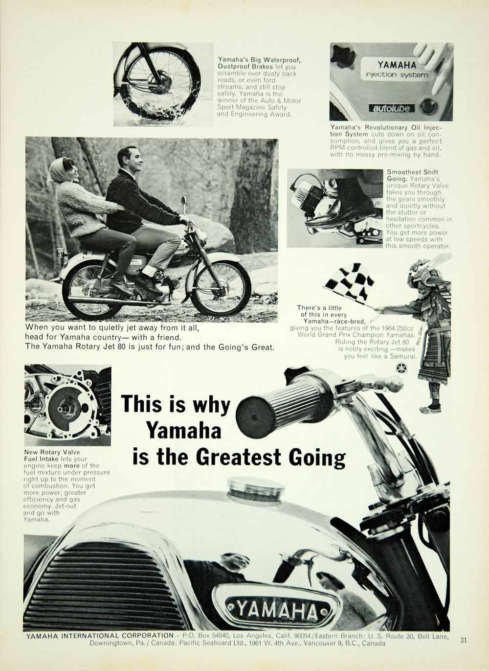 1965 Ad Vintage Yamaha Rotary Jet 80 Motorcycle Motorcycling Motorcyclist  YMMA3