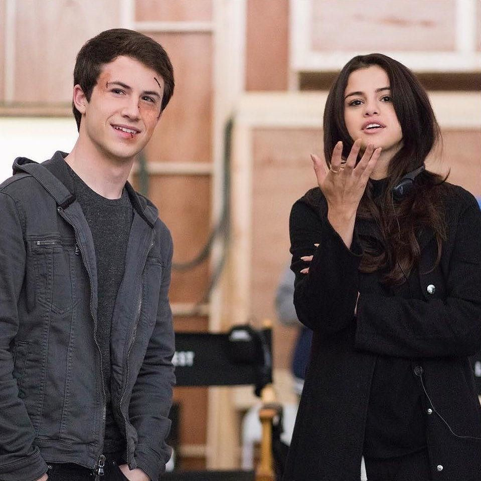 Selena Gomez And Dylan Minnette On The Set Of 13 Reasons Why