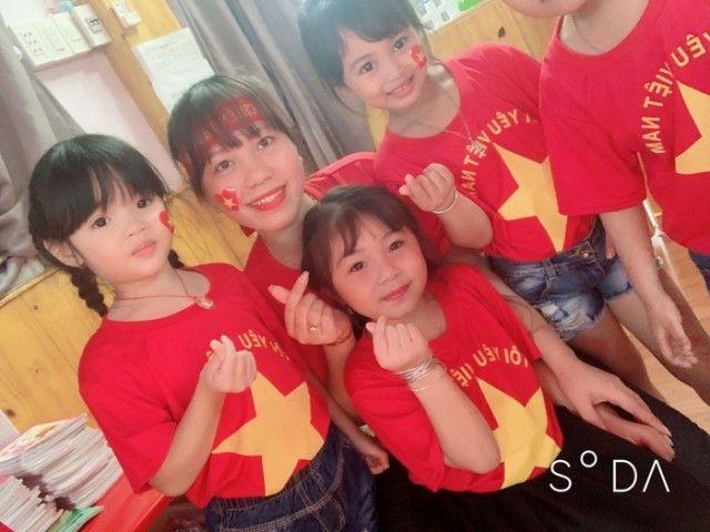 Áo cờ đỏ sao vàng trường mầm non Thành Nhơn - Hình 1
