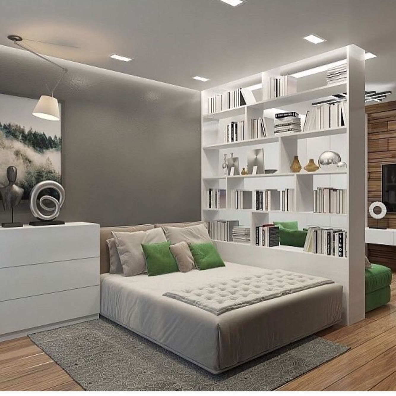 Pin on Living room and bedroom combo