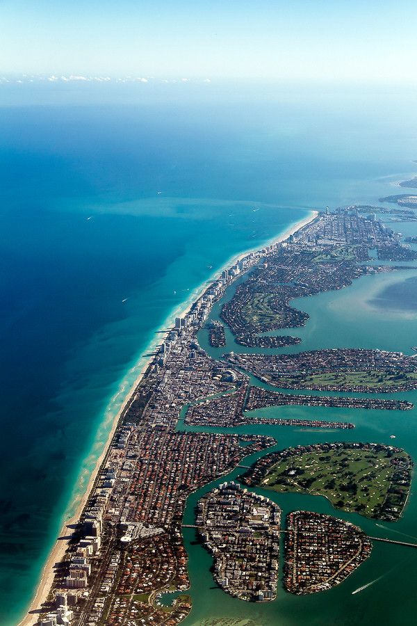 Aerial View Miami Beach With Images