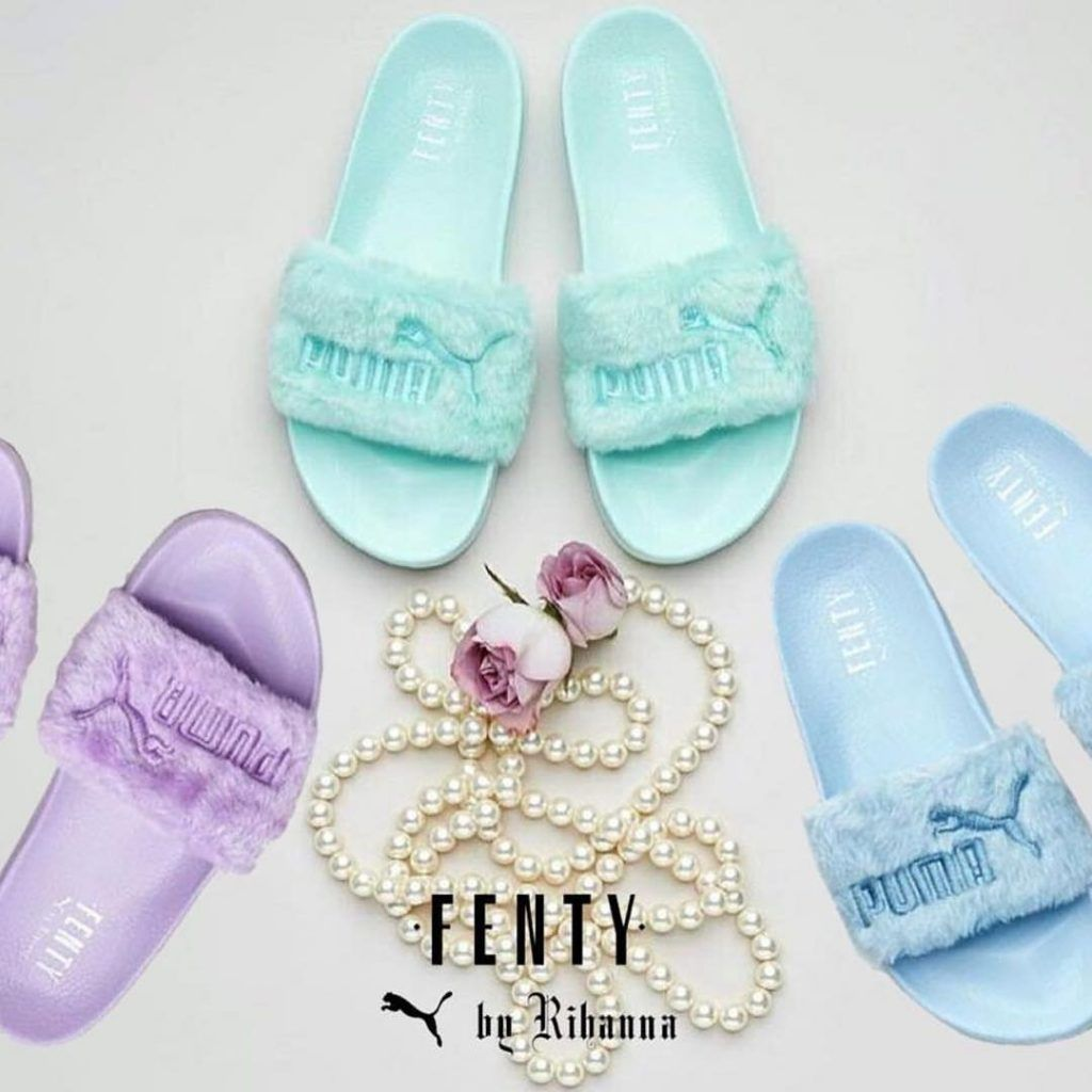 cheap for discount d42e2 2f0cf Fenty x Puma Just Dropped New Colored Fur Slides | Shoes ...
