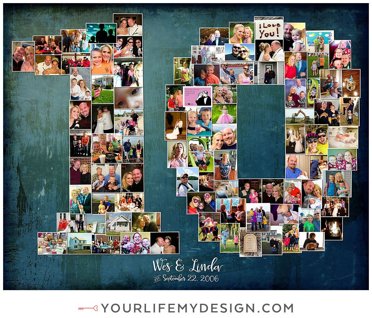 11x14 With 90 Photos Collagedesign By Http Yourlifemydesign Com Yourli 10th Wedding Anniversary Gift Anniversary Gifts For Wife Wedding Anniversary Gifts