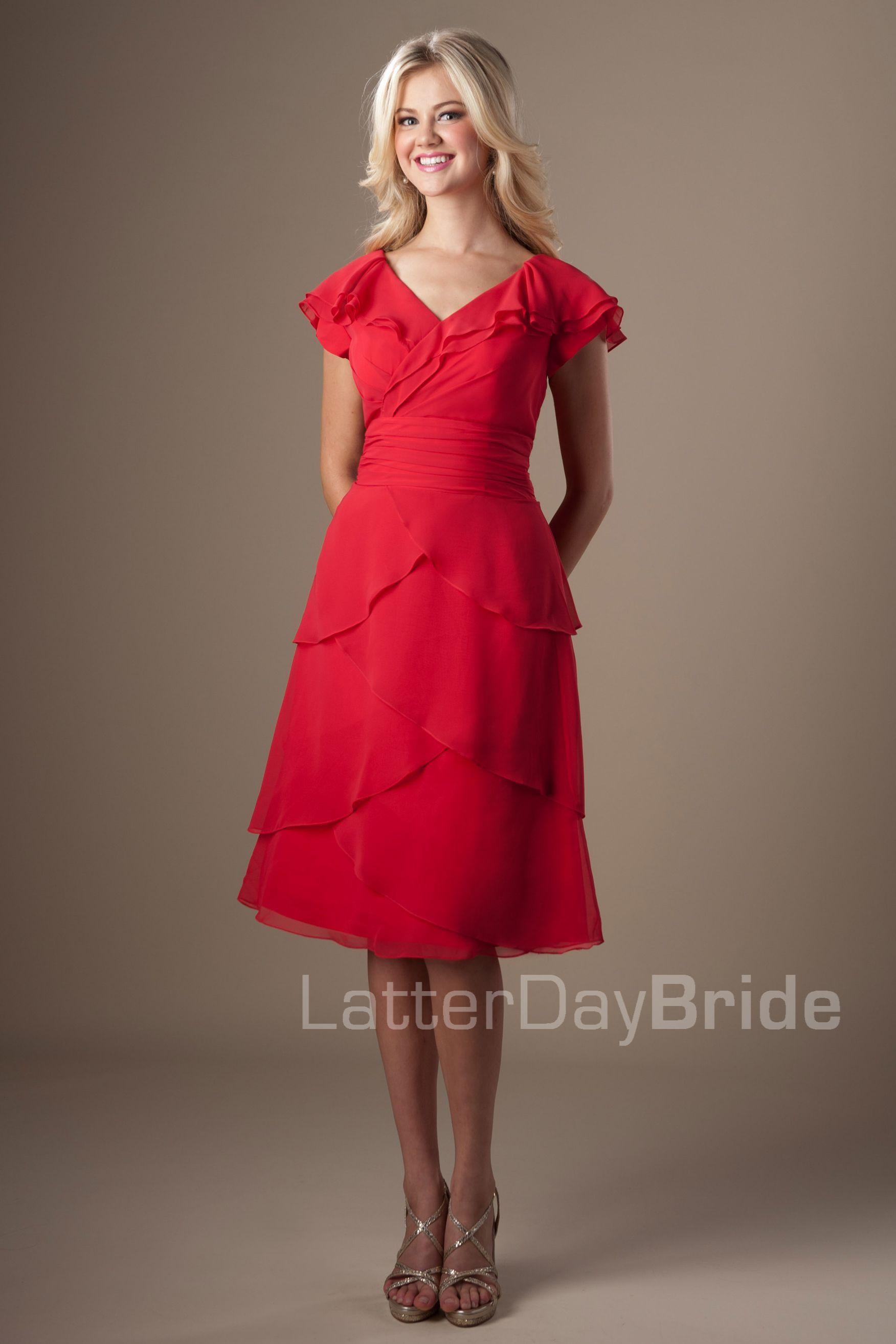 5ba7c164deea Modest Bridesmaid Dresses : Laura   Modest Bridesmaid Dresses ...