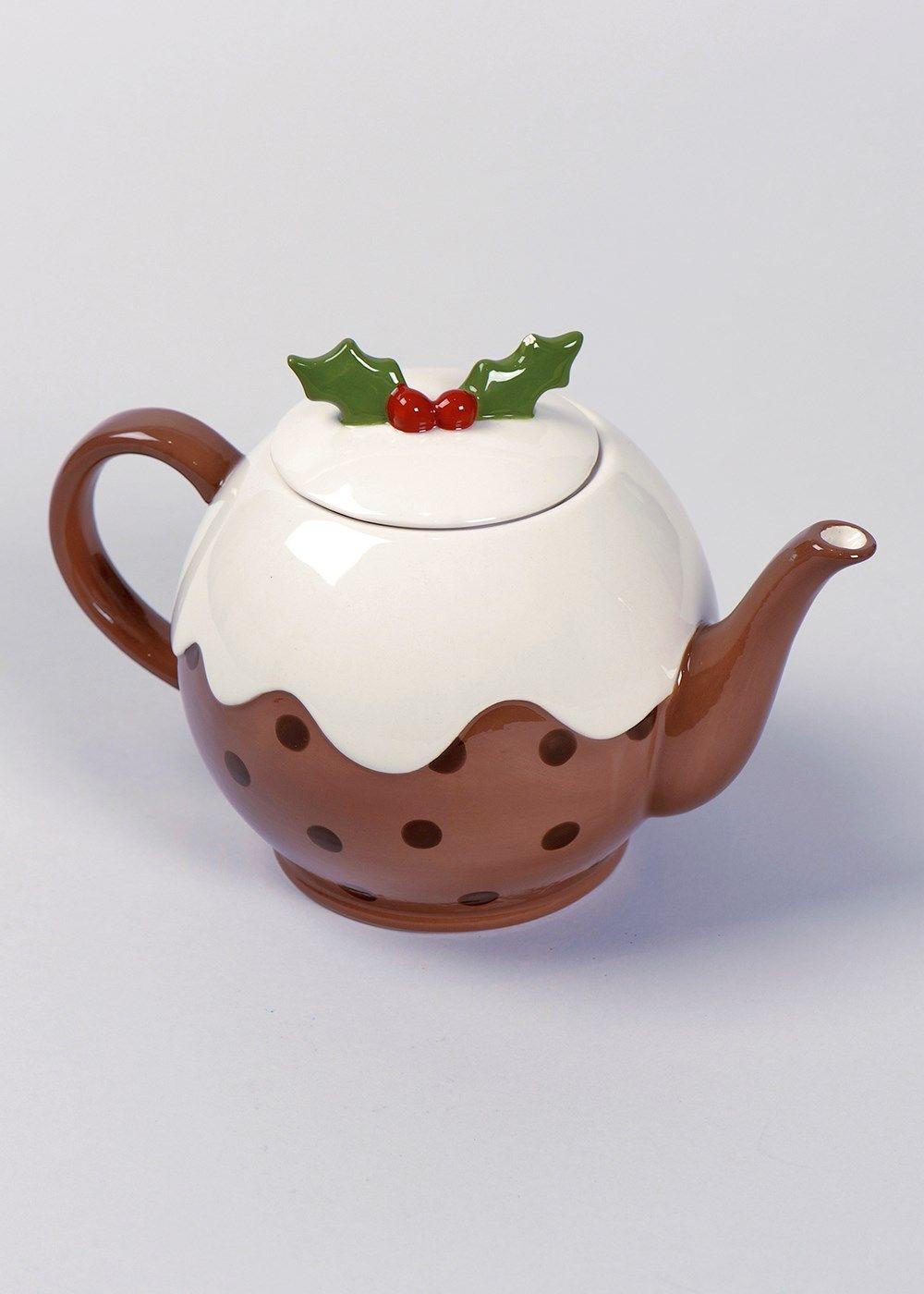 Christmas Shop Christmas Pudding Tea Pots Christmas Pots