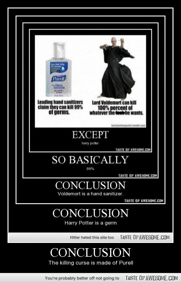 Conclusion Voldemort Is Hand Sanitizer Pins