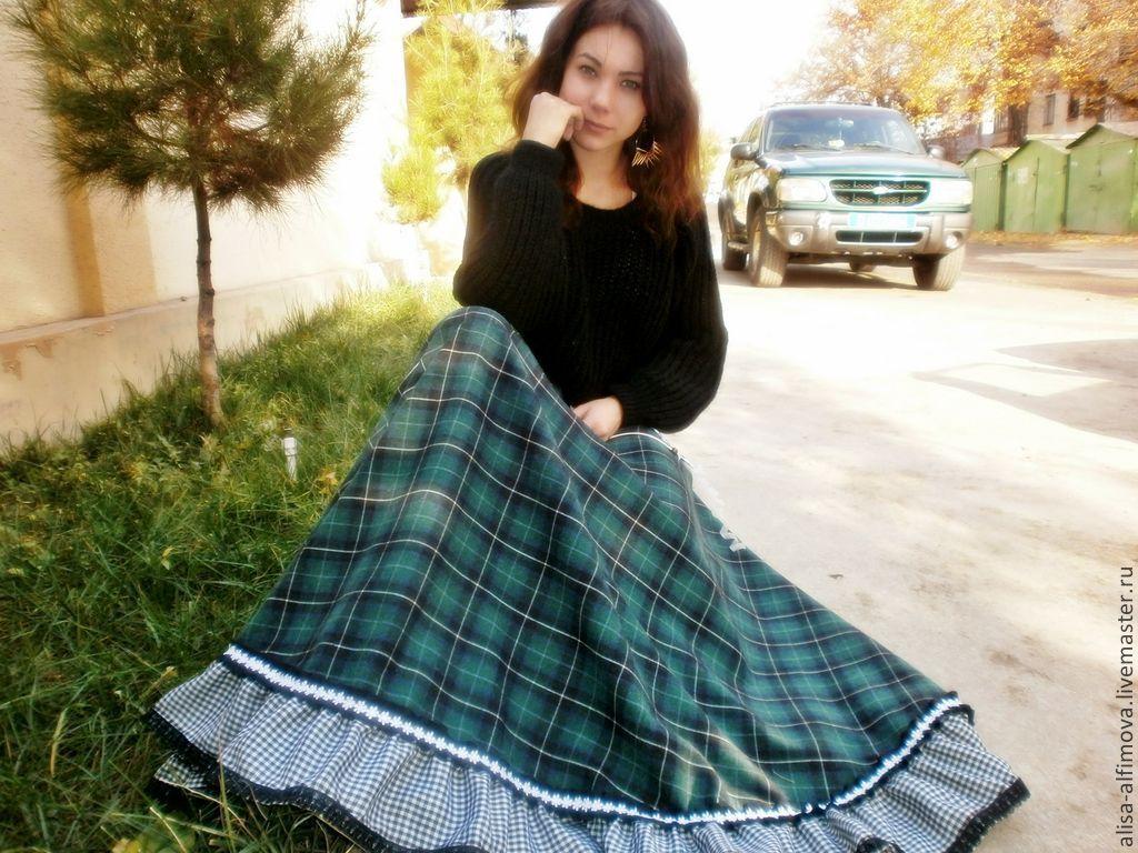 Теплая юбка в пол своими руками