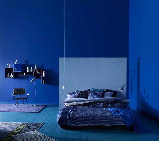 Blauwe slaapkamer - Room inspiration   Pinterest - Slaapkamer ...
