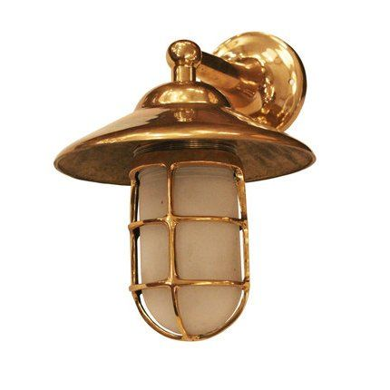Ann morris antiques bulkhead light in unlacquered brass