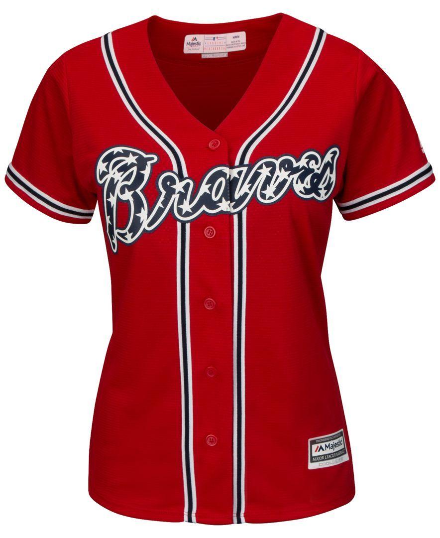 Majestic Women S Atlanta Braves Cool Base Jersey Reviews Sports Fan Shop By Lids Women Macy S Atlanta Braves Outfit Atlanta Braves Mlb Women