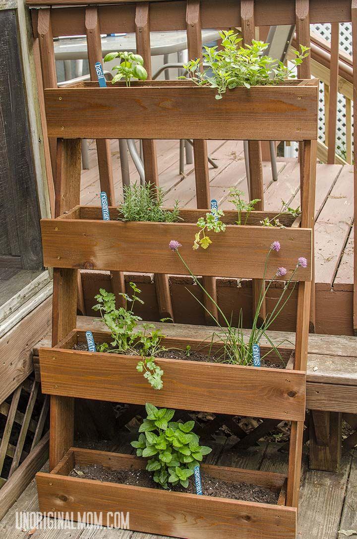Diy window box herb garden herb garden pallet herb