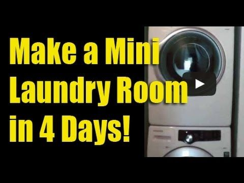 Make a Mini Laundry Room in 4 Days! - YouTube