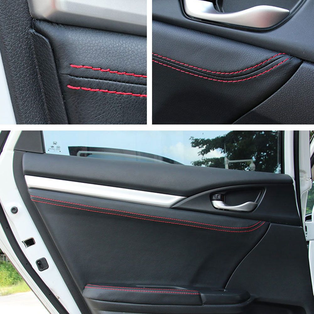 For Honda 10th Civic 16 17 Car Door Panel Cover Surface Shell Leather Trim 4pcs Car Door Car Panel Doors