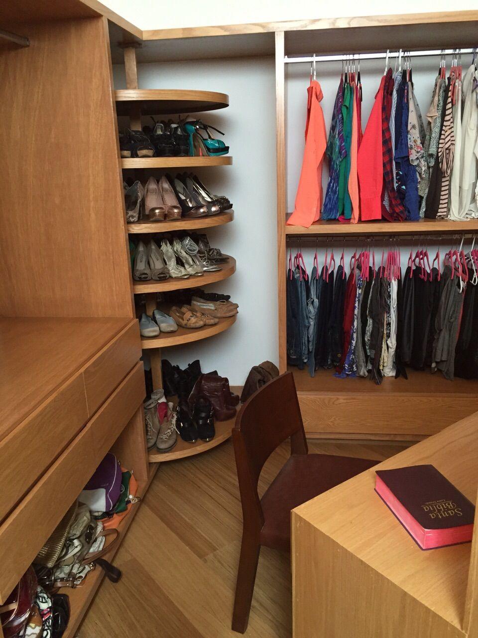 closet vestidor con zapatera closet pinterest