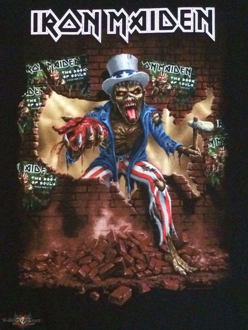 Iron Maiden The Book Of Souls 2016 Usa Tour Iron Maiden Eddie Iron Maiden Posters Iron Maiden Albums