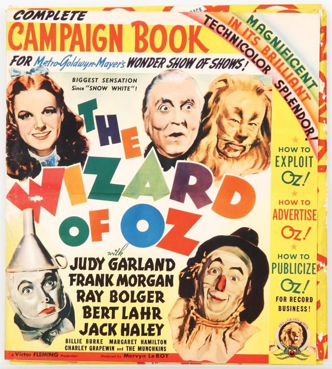 the wizard of oz original press book