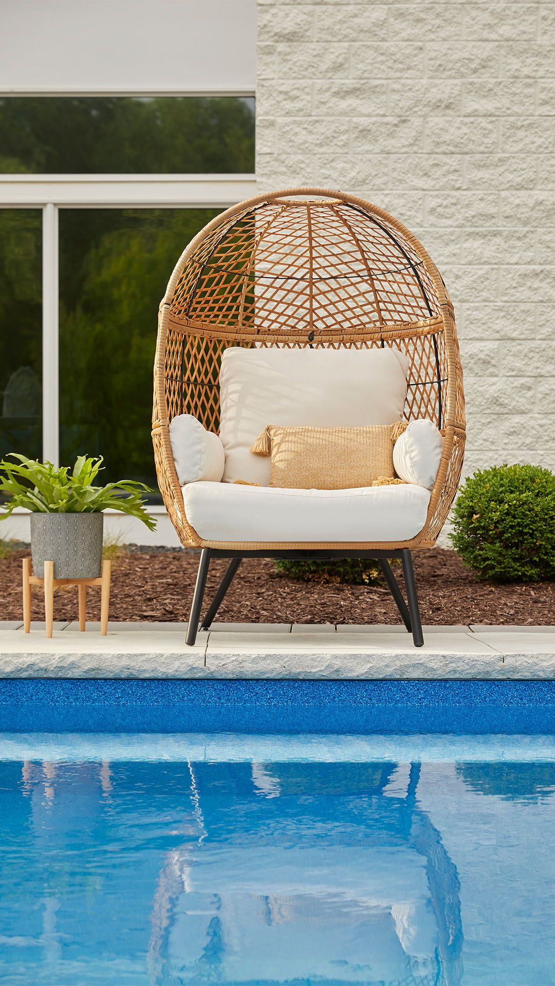 Better Homes And Gardens Ventura Boho Stationary Wicker Egg Chair Walmart Com In 2020 Garden Patio Furniture Wicker Patio Furniture Outdoor Wicker Furniture #replacement #living #room #chair #cushions