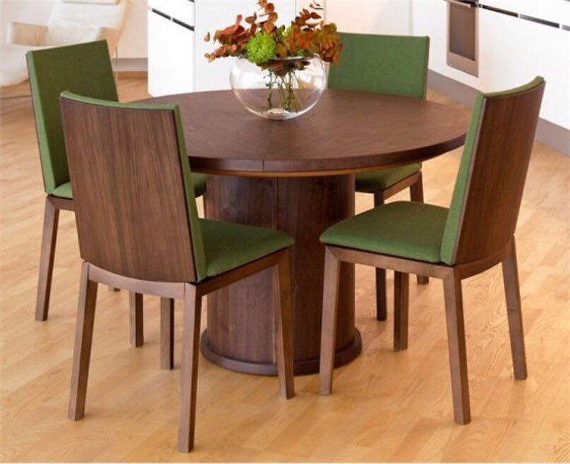 Four Seater Teak Wood Dining Table By Stallion Furnitures Dining Room Small Round Dining Table Sets Round Dining Room Table