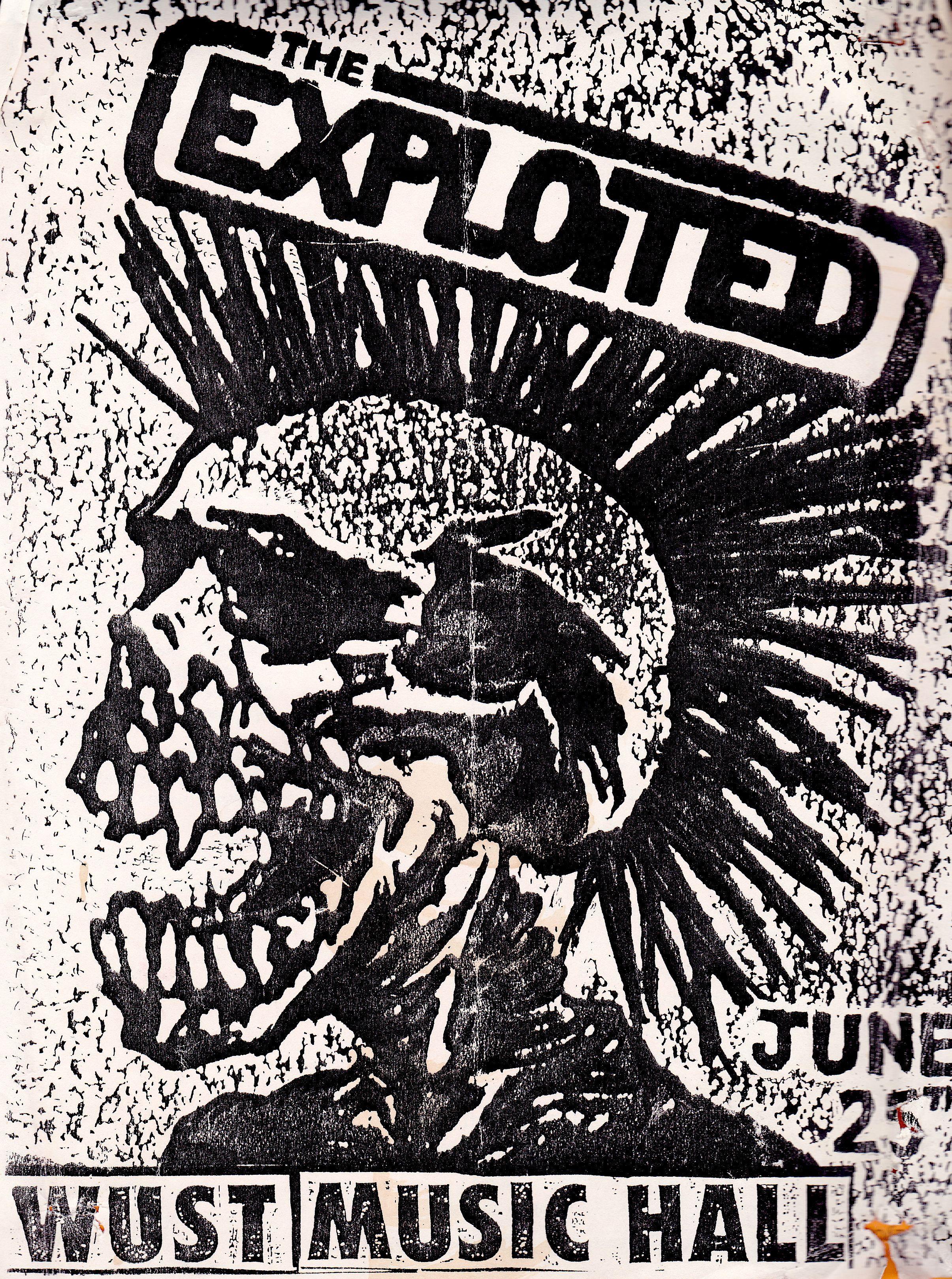 The Exploited At Wust Punk Poster Punk Art Grunge Artist