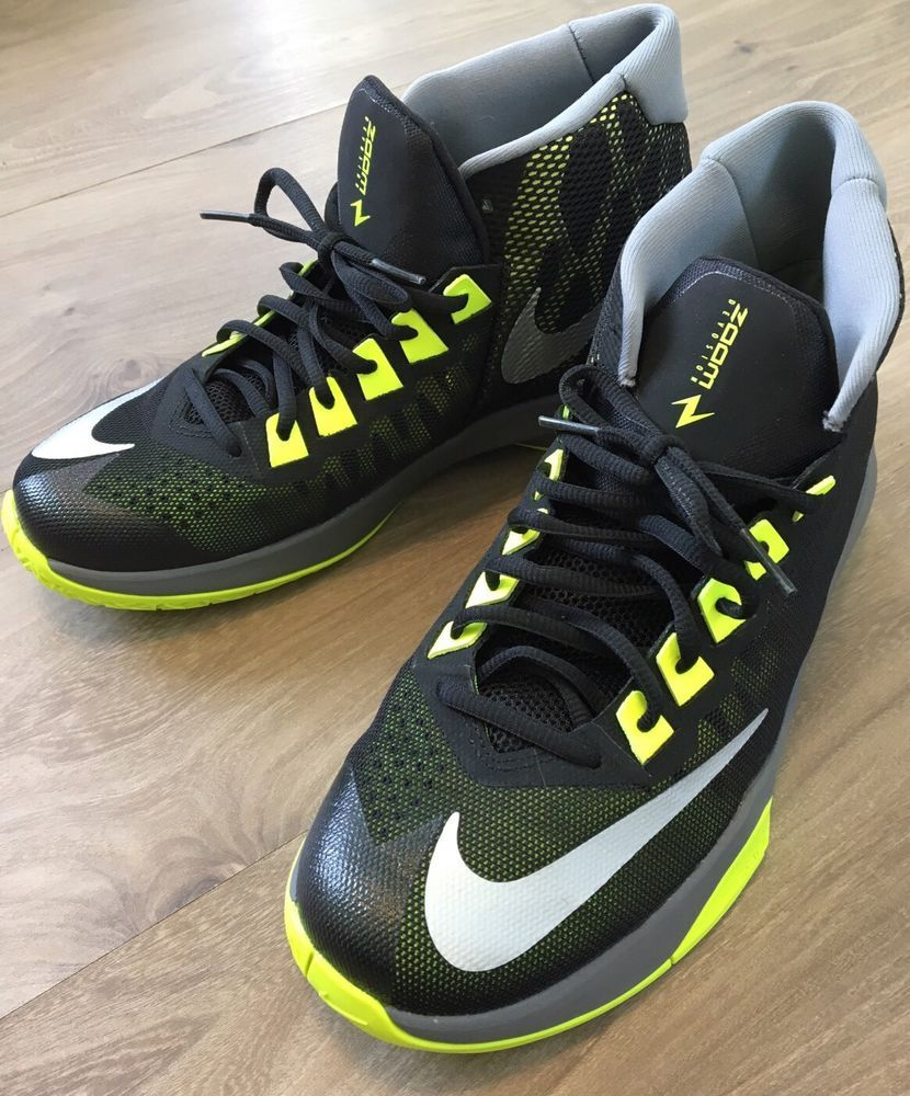 NIKE Zoom Division Basketball Shoes Men 7.5 Green Gray Black Excellent |  eBay