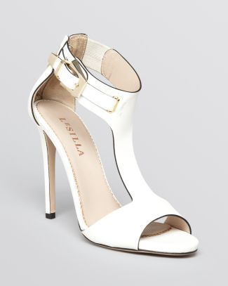 T Strap High-Heel Sandals Shoes