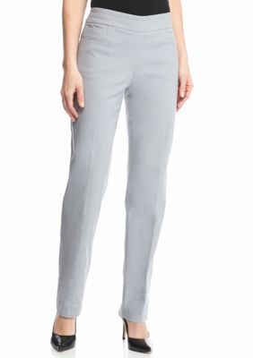 Kim Rogers Titanium Super Stretch Flat Front Short Pant