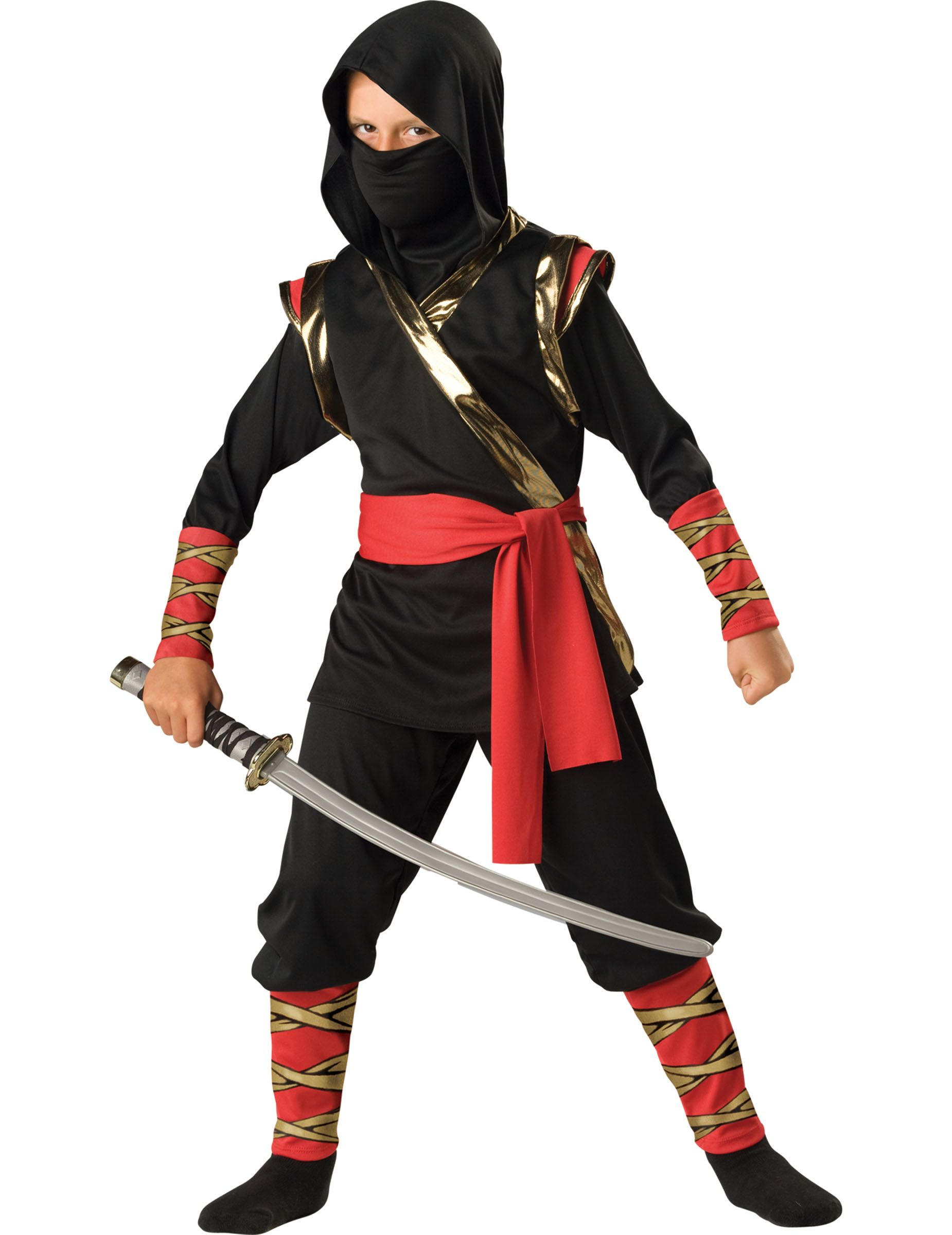 4ce639197 Disfraz Ninja para niño -Premium  Este disfraz de Ninja para niño incluye  camiseta