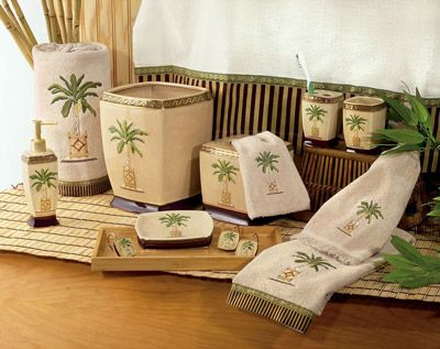 Banana Palm Bath Accessories