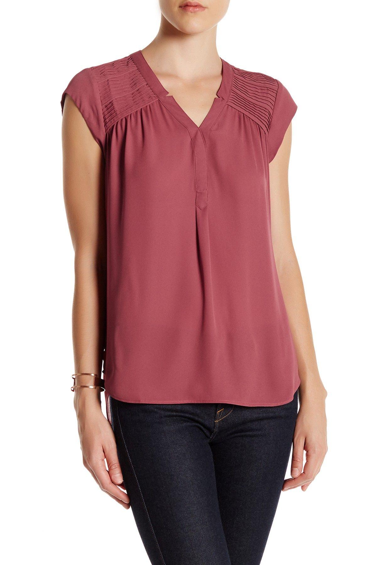 Dr2 by daniel rainn pleated shoulder blouse nordstrom