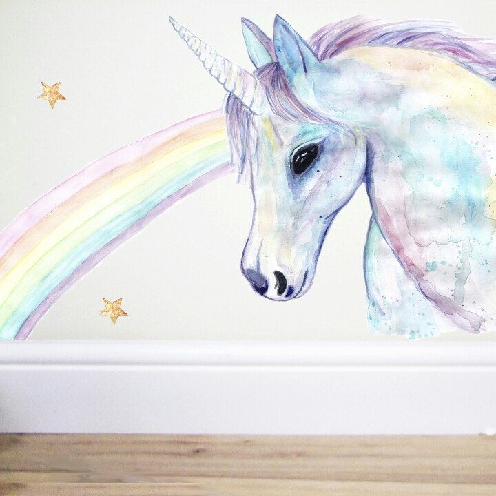 unicorn wall decal,unicorn decor,unicorn sticker,horse wall decal