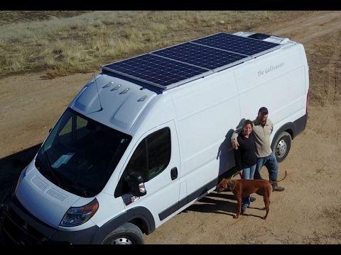 900 Watt Van Conversion Full Walkthrough Full Time Stealth Travel Home Cargo Van Conversion Cargo Van Van Conversion