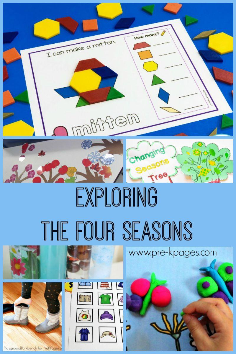 Activities For Exploring The Four Seasons Pre K Pages Seasons Activities Seasons Preschool Winter Theme Preschool [ 1200 x 800 Pixel ]