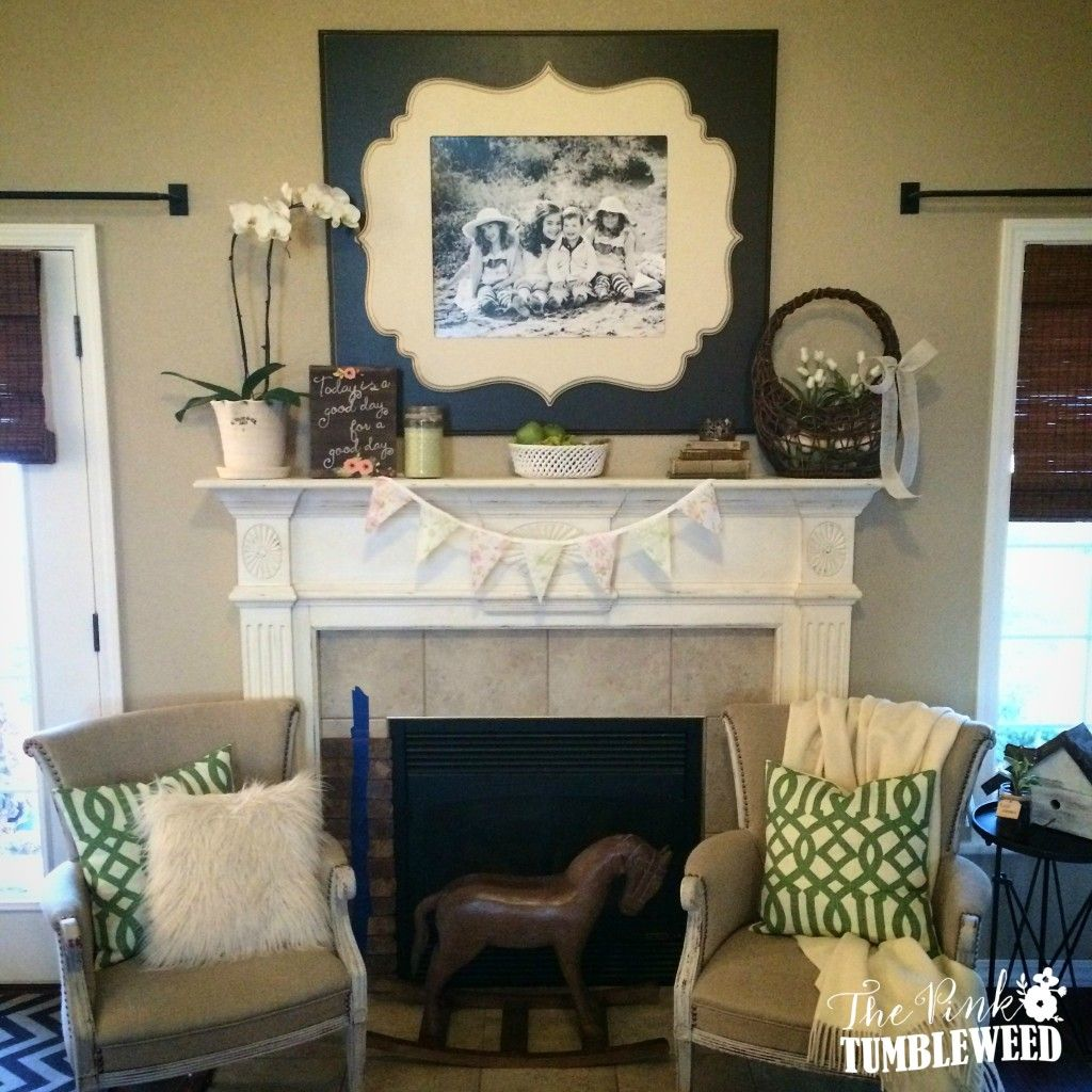 Brick fireplace makeover with old mill thin brick in cafe mocha